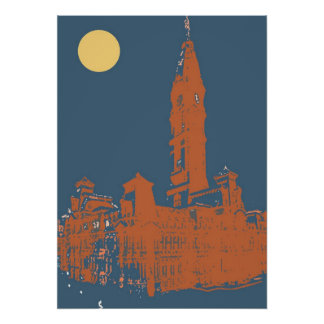 Old Philadelphia City Hall Poster