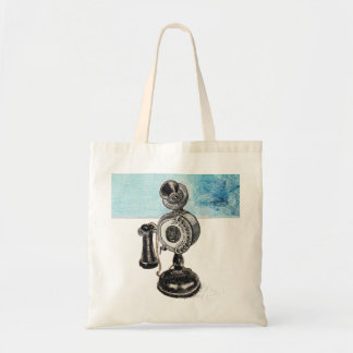 Old Phone Canvas Bag