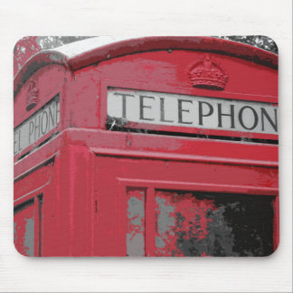 OLD PHONE BOX MOUSEPAD