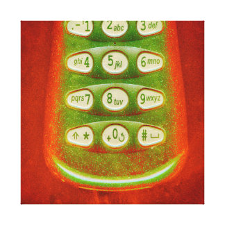Old Phone Keys Canvas Print