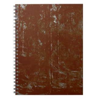 Old photo of spring forest notebooks