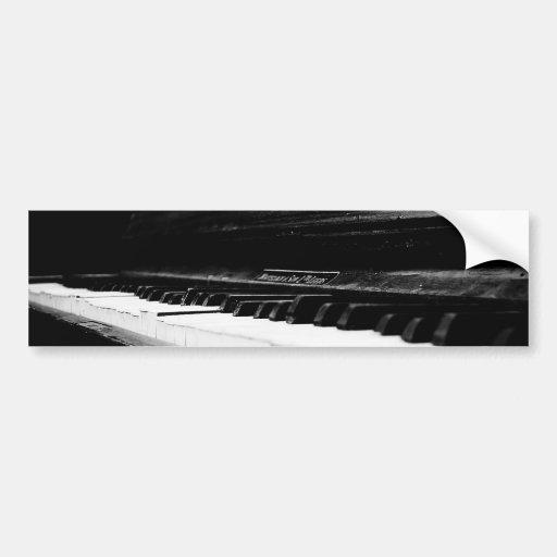 Old Piano Bumper Sticker