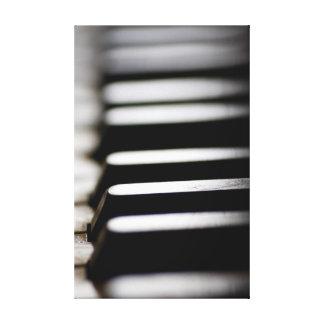 Old piano keys canvas print