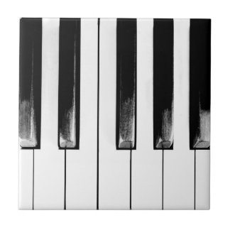 Old Piano Keys Ceramic Tile