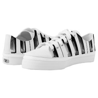 Old Piano Keys Funny Cool Printed Shoes
