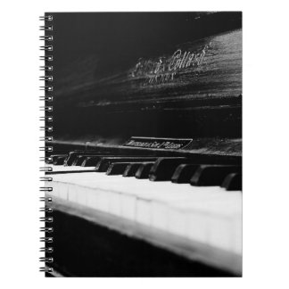 Old Piano Spiral Note Book