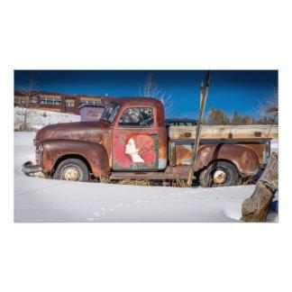 Old Pickup Truck Leadville Colorado Art Photo