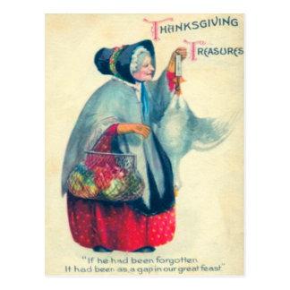 Old Pilgrim Woman Postcard