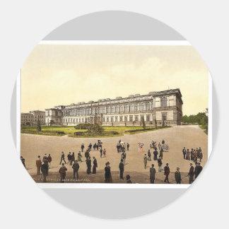 Old Pinakothek Munich Bavaria Germany magnifice Round Stickers