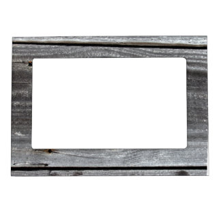 old plank magnetic picture frame