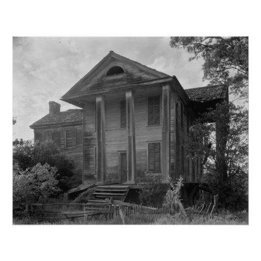 Old Plantation House Posters
