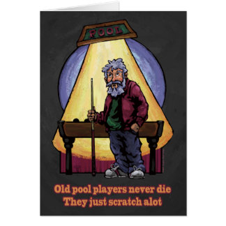 Old Pool players Card