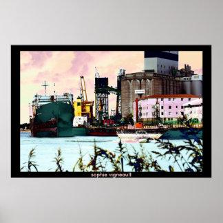 old port print