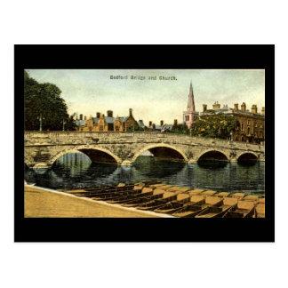 Old Postcard, Bedford Bridge 1936 Postcard