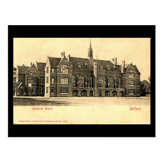 Old Postcard, Bedford Grammar School Postcard