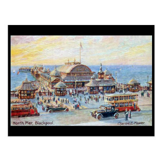 Old Postcard - Blackpool, North Pier