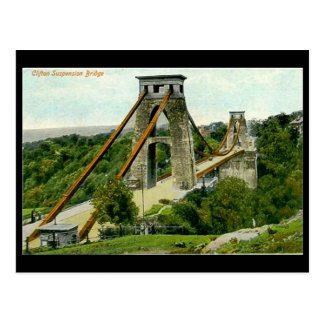 Old Postcard - Bristol, Clifton Suspension Bridge