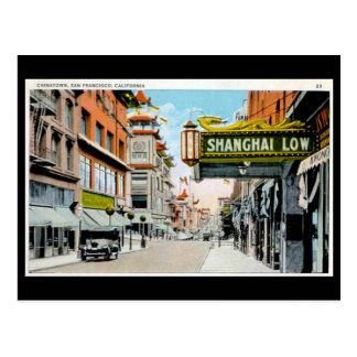 Old Postcard - Chinatown, San Francisco
