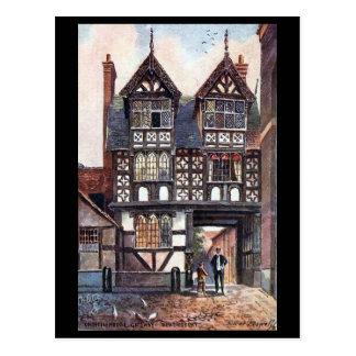 Old Postcard - Council House Gateway, Shrewsbury