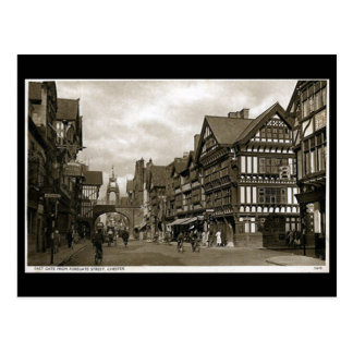 Old Postcard - Foregate Street, Chester.