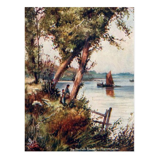 Old Postcard - Fritton Lake, Norfolk Broads