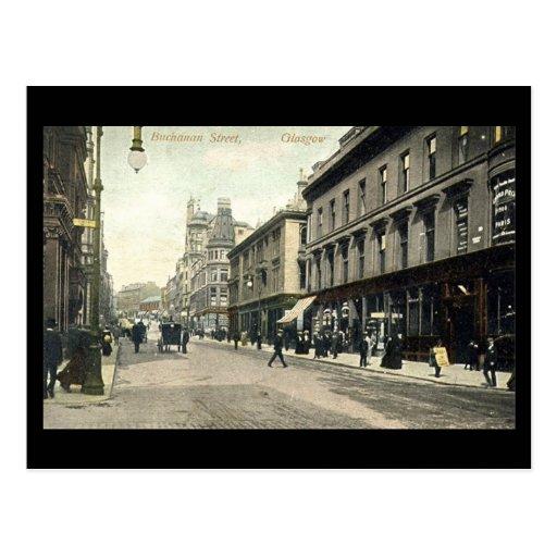 Old Postcard, Glasgow, Buchanan Street