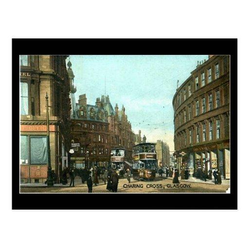 Old Postcard, Glasgow, Charing Cross