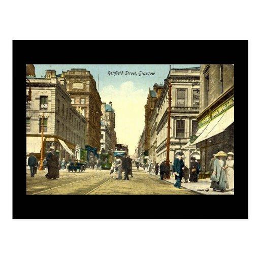 Old Postcard, Glasgow, Renfield Street, 1918