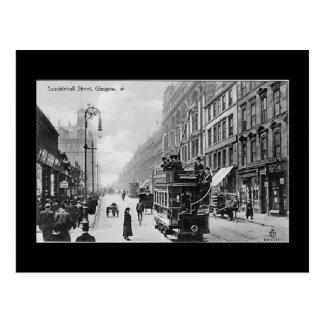 Old Postcard, Glasgow, Sauchiehall Street Postcard
