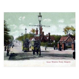Old Postcard - Great Western Rd, Glasgow