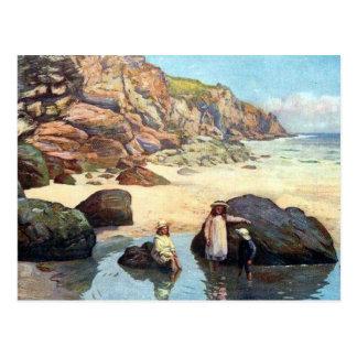Old Postcard - Housel Bay, Cornwall