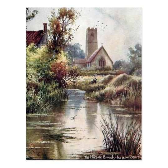 Old Postcard - Instead Staithe, Norfolk Broads