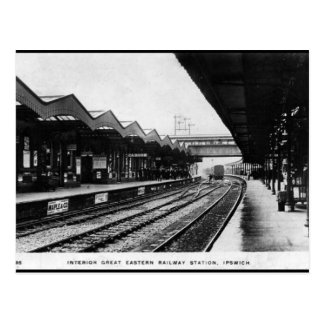 Old Postcard - Ipswich Railway Station