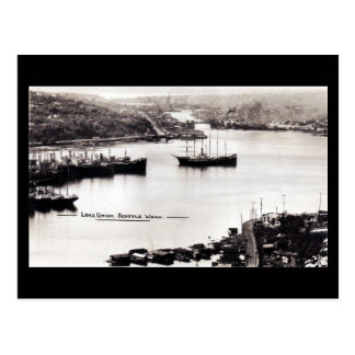 Old Postcard - Lake Union, Seattle WA
