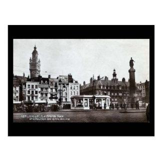 Old Postcard - Lille, La Grande Place