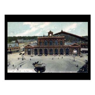 Old Postcard - Lille Station