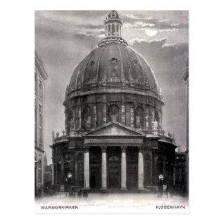 Old Postcard - Marmorkirken, Copenhagen
