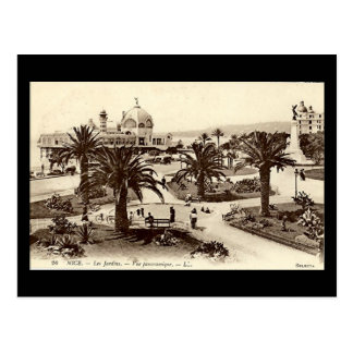 Old Postcard, Nice, Les Jardins Postcard