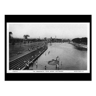 Old Postcard - Nottingham, Trent Bridge