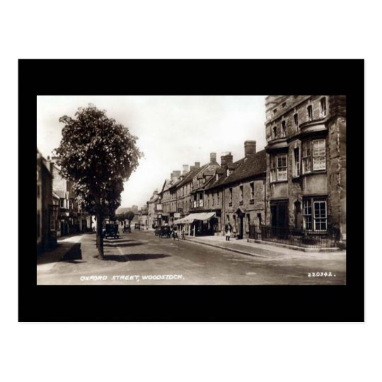 Old Postcard - Oxford St, Woodstock, Oxon