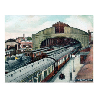 Old Postcard - Penzance Railway Station