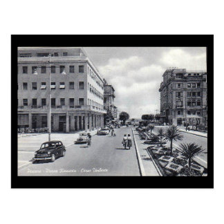 Old Postcard - Pescara, Piazza Renascita and Corso