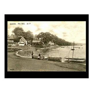 Old Postcard - Pin Mill, Ipswich, Suffolk