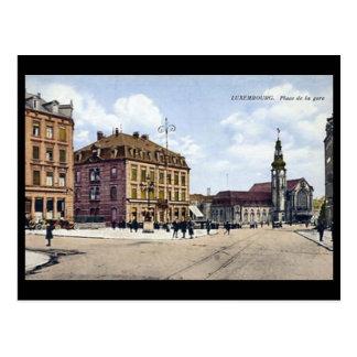 Old Postcard - Place de la Gare, Luxembourg