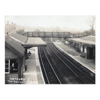 Old Postcard - Railway Station, Heyford, Oxon