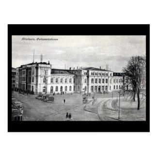 Old Postcard - Railway Station, Kristiania (Oslo)