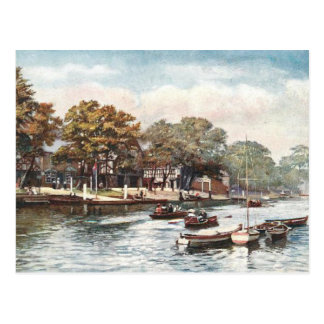 Old Postcard - River Dee, Chester, England