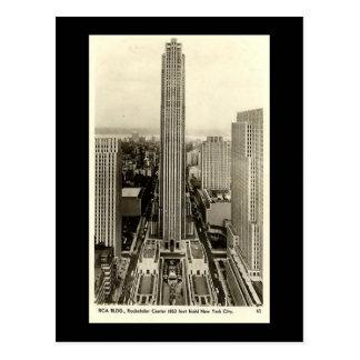 Old Postcard, Rockefeller Center, New York City Postcard