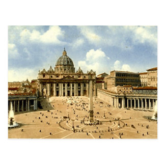 Old Postcard, Rome, St Peter's and the Vatican Postcard
