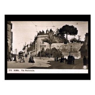 Old Postcard, Rome, Via Nazionale Postcard